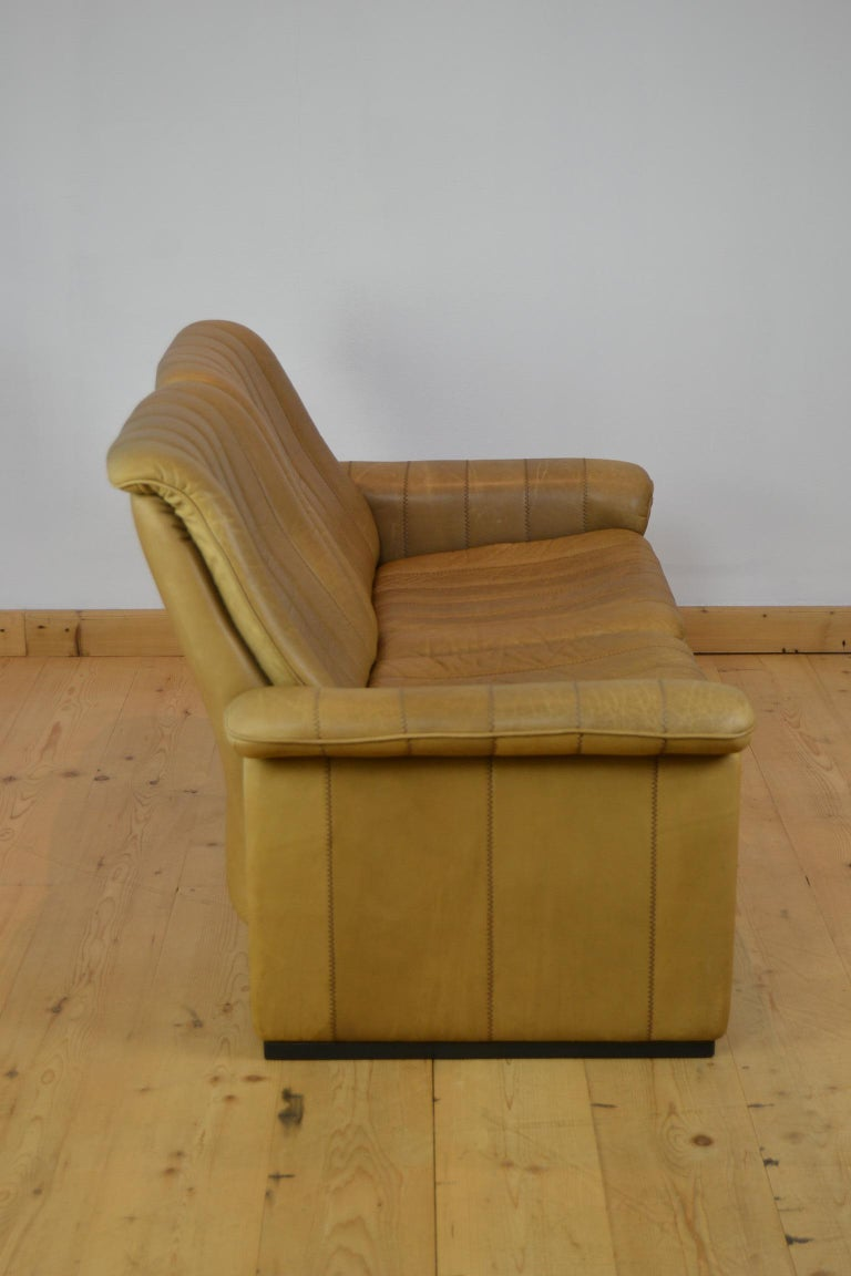 Vintage De Sede 2-Seat Sofa, Brown Leather, Switserland , 1970s For Sale 3