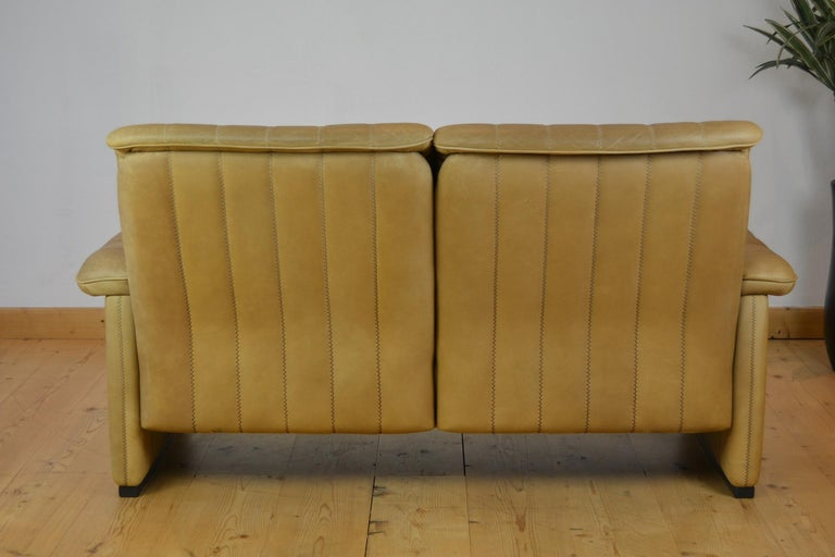 Vintage De Sede 2-Seat Sofa, Brown Leather, Switserland , 1970s For Sale 4