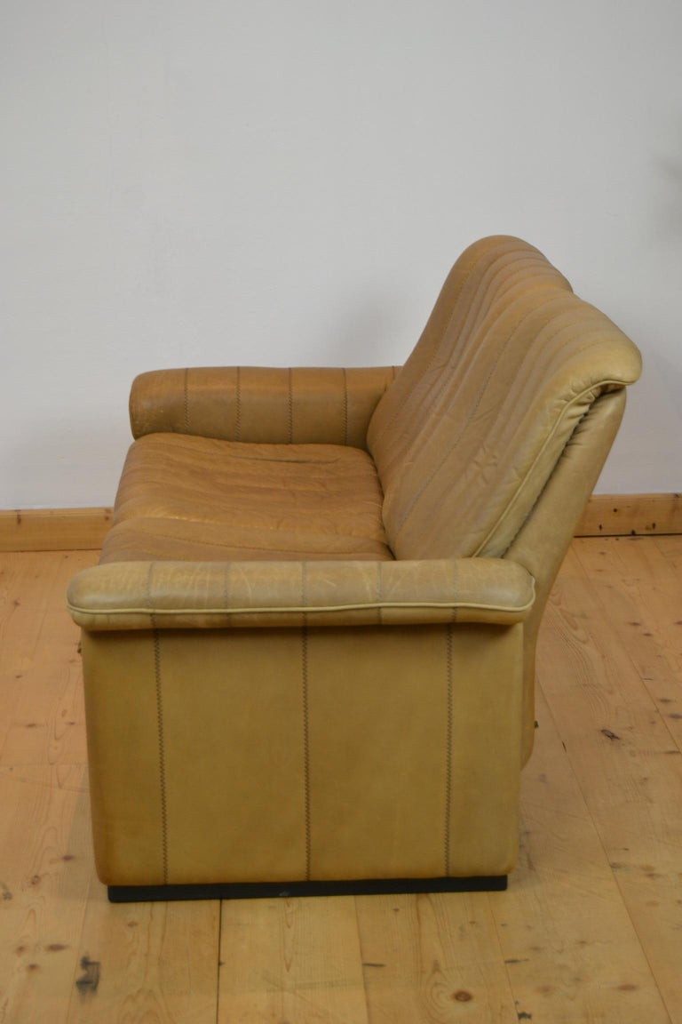 Vintage De Sede 2-Seat Sofa, Brown Leather, Switserland , 1970s For Sale 5