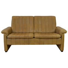 Vintage De Sede 2-Seat Sofa, Brown Leather, Switserland , 1970s