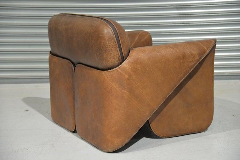 Leather Vintage De Sede 'DS 125' Armchair Designed by Gerd Lange, Switzerland, 1978