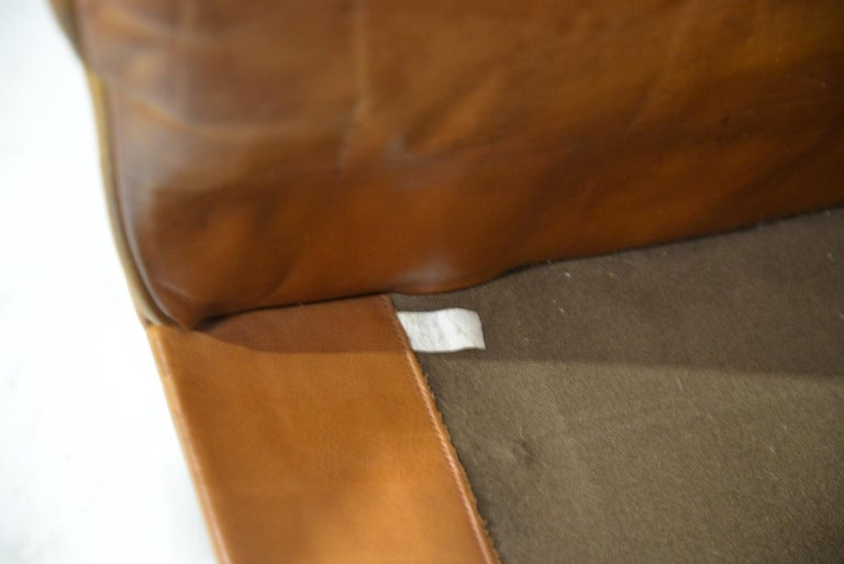 Vintage De Sede DS 31 Leather Swivel Armchair with Ottoman, Switzerland 1970s 11