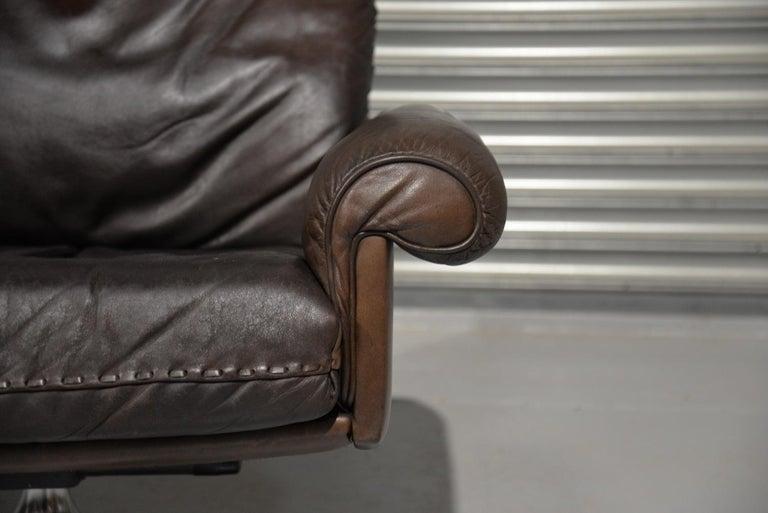 Vintage De Sede DS 31 Highback Swivel Leather Armchairs, Switzerland 1970s 6