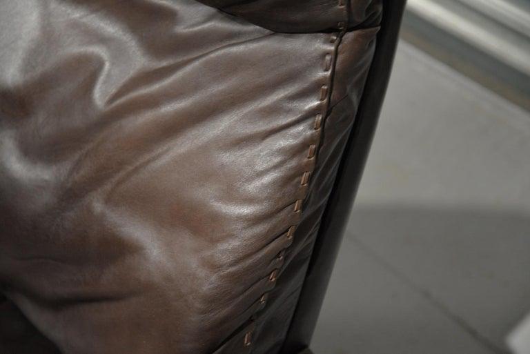 Vintage De Sede DS 31 Highback Swivel Leather Armchairs, Switzerland 1970s 11