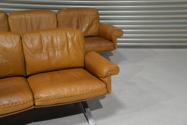 Vintage De Sede DS 31 Leather Sofa and Loveseat, Switzerland 1970s For Sale 2