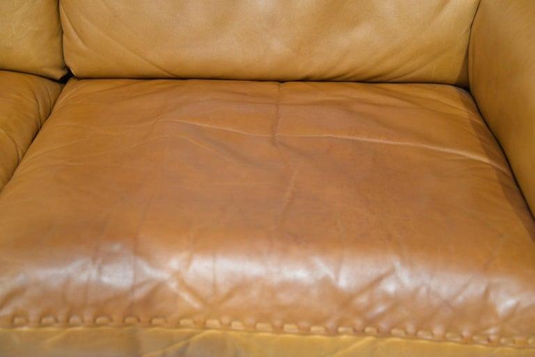 Vintage De Sede DS 31 Leather Three-Seat Sofa, Switzerland 1970s For Sale 10