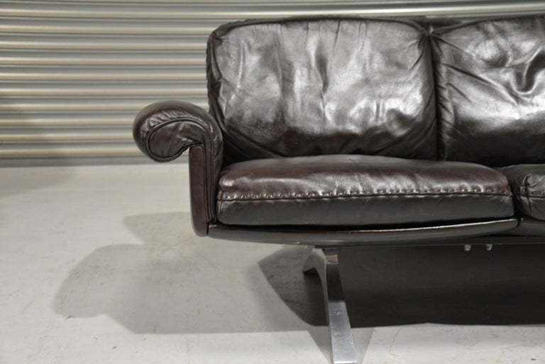 Vintage De Sede DS 31 Leather Three-Seat Sofas, Switzerland 1970s For Sale 5