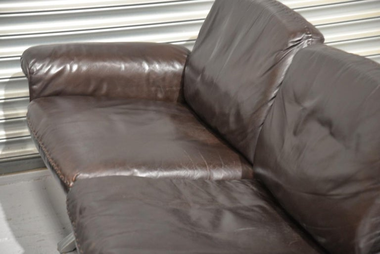 Vintage De Sede DS 31 Leather Three-Seat Sofas, Switzerland 1970s For Sale 7