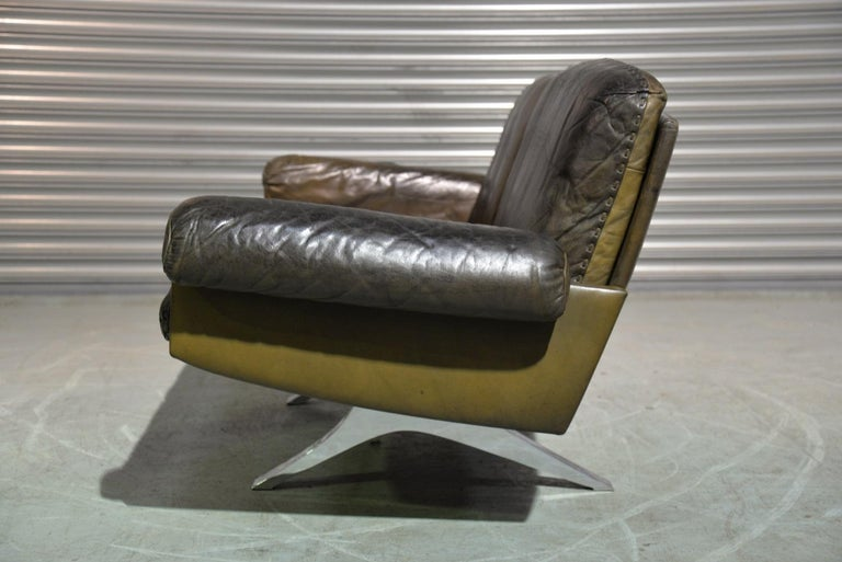 Late 20th Century Vintage De Sede DS 31 Leather Two-Seat Sofa or Loveseat, Switzerland, 1970s For Sale