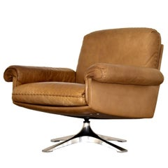 Vintage De Sede DS 31 Swivel Lounge Armchair, Switzerland 1970`s