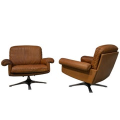 Vintage De Sede DS 31 Swivel Lounge Armchairs, Switzerland 1970s