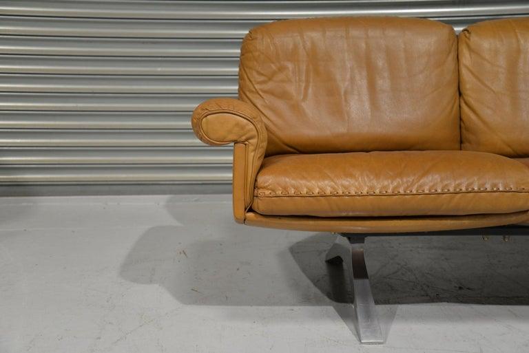 Vintage De Sede DS 31 Leather Three-Seat Sofa, Switzerland 1970s For Sale 5