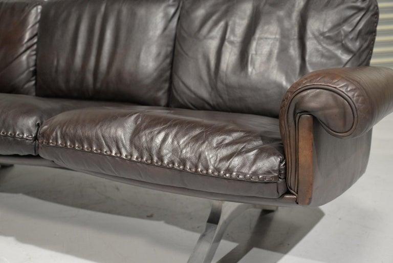 Mid-Century Modern Vintage De Sede DS 31 Three-Seat Sofa, Switzerland, 1970s For Sale