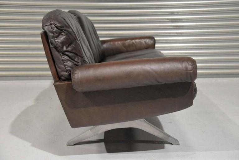 Swiss Vintage De Sede DS 31 Three-Seat Sofa, Switzerland, 1970s For Sale