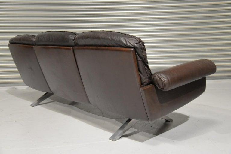 Vintage De Sede DS 31 Three-Seat Sofa, Switzerland, 1970s In Good Condition For Sale In Fen Drayton, Cambridgeshire