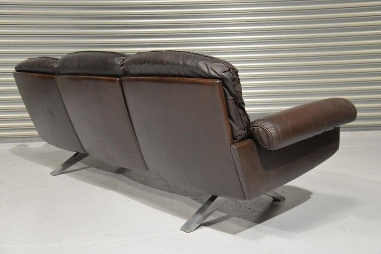 Vintage De Sede DS 31 Three-Seat Sofa, Switzerland, 1970s In Good Condition For Sale In Fen Drayton, Cambridgeshire
