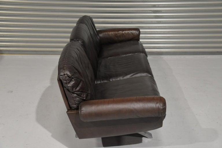 Aluminum Vintage De Sede DS 31 Three-Seat Sofa, Switzerland, 1970s For Sale