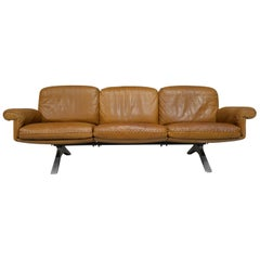 Vintage De Sede DS 31 Leather Three-Seat Sofa, Switzerland 1970s