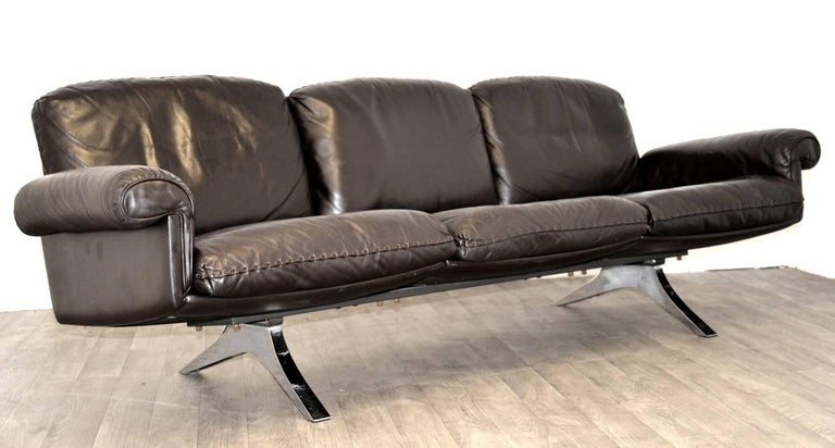 Vintage De Sede DS 31 Leather Three-Seat Sofas, Switzerland 1970`s For Sale 2