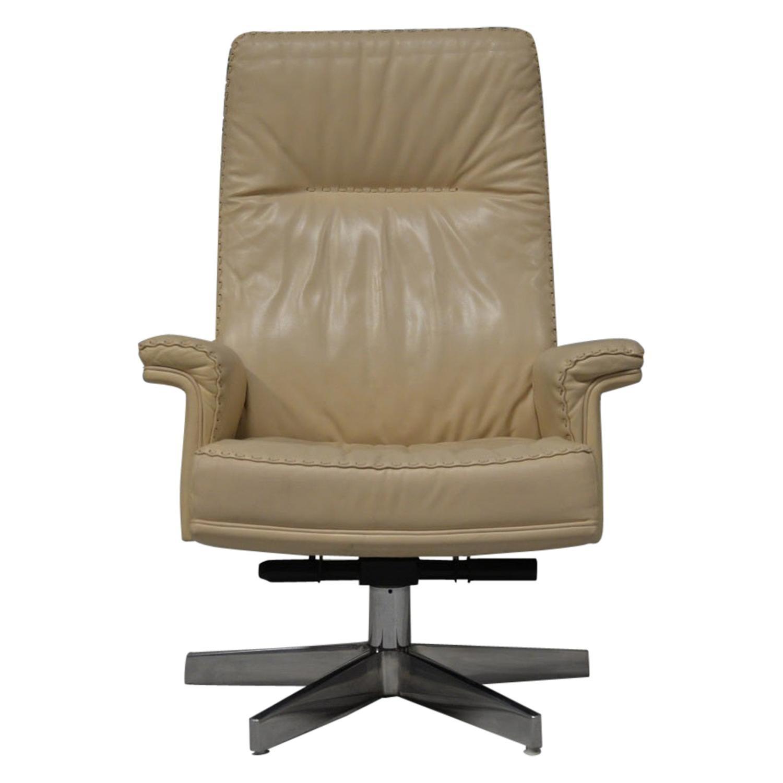 Vintage De Sede DS 35 Executive Swivel Leather Armchair, Switzerland, 1970s