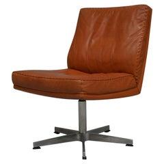 Vintage De Sede DS 35 Leather Swivel Office Chair, Switzerland, 1960s