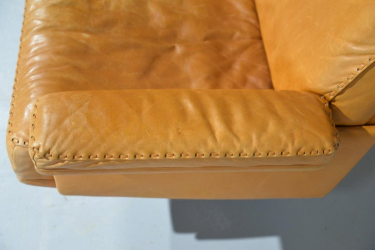 Vintage De Sede DS 35 Leather Three-Seat Sofa, Switzerland, 1960s For Sale 7