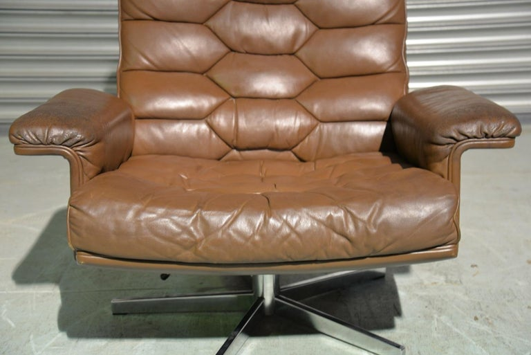 Vintage De Sede DS 35 Swivel Armchair by Robert Haussmann, Switzerland 1970s 3