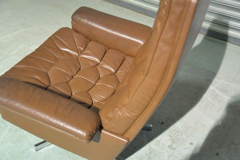 Vintage De Sede DS 35 Swivel Armchair by Robert Haussmann, Switzerland 1970s 6