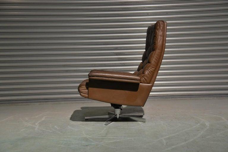Mid-Century Modern Vintage De Sede DS 35 Swivel Armchair by Robert Haussmann, Switzerland 1970s
