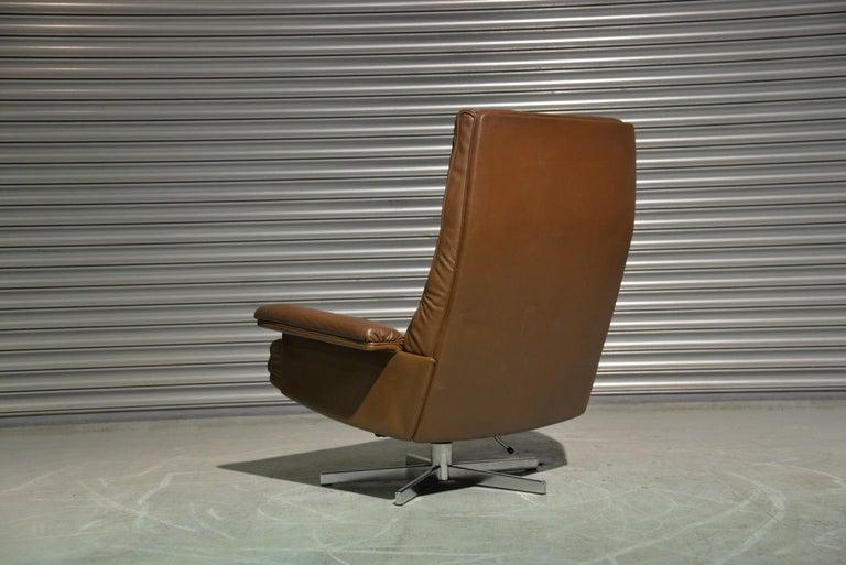 Swiss Vintage De Sede DS 35 Swivel Armchair by Robert Haussmann, Switzerland 1970s