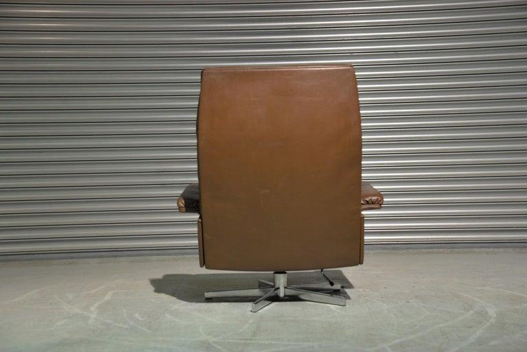 Vintage De Sede DS 35 Swivel Armchair by Robert Haussmann, Switzerland 1970s In Good Condition In Fen Drayton, Cambridgeshire