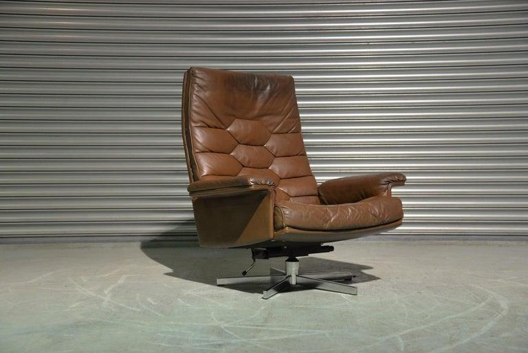 Vintage De Sede DS 35 Swivel Armchair by Robert Haussmann, Switzerland 1970s 1