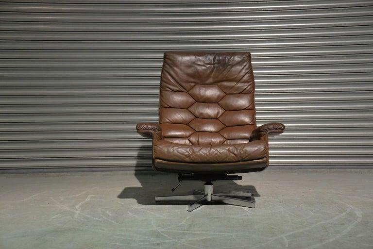 Vintage De Sede DS 35 Swivel Armchair by Robert Haussmann, Switzerland 1970s 2