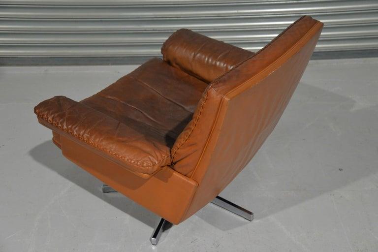 Vintage De Sede DS 35 Swivel Lounge Armchair, 1970`s For Sale 5