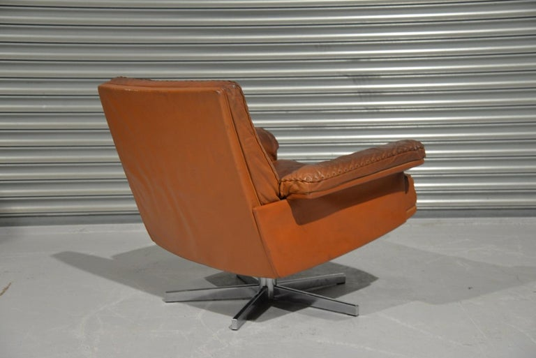 Late 20th Century Vintage De Sede DS 35 Swivel Lounge Armchair, 1970`s For Sale