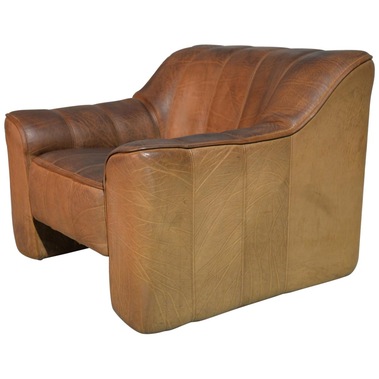 Vintage De Sede DS 44 Leather Armchair, Switzerland 1970s