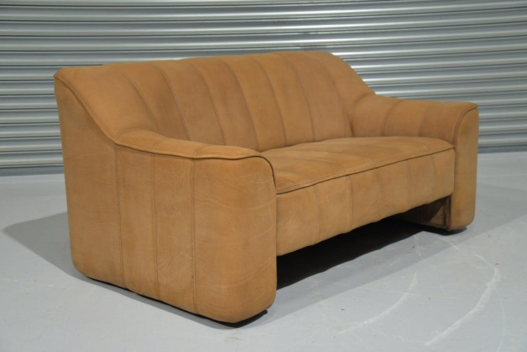 Vintage De Sede DS 44 Leather Two-Seat Sofa or Loveseat Switzerland 1970`s For Sale 1