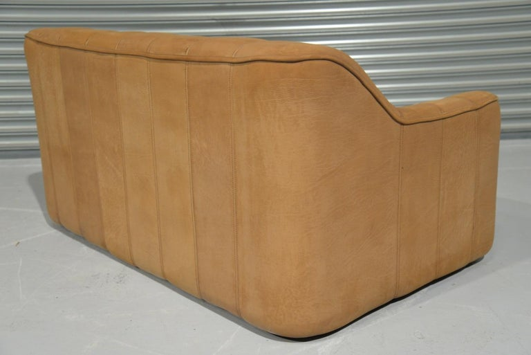 Vintage De Sede DS 44 Leather Two-Seat Sofa or Loveseat Switzerland 1970`s For Sale 3