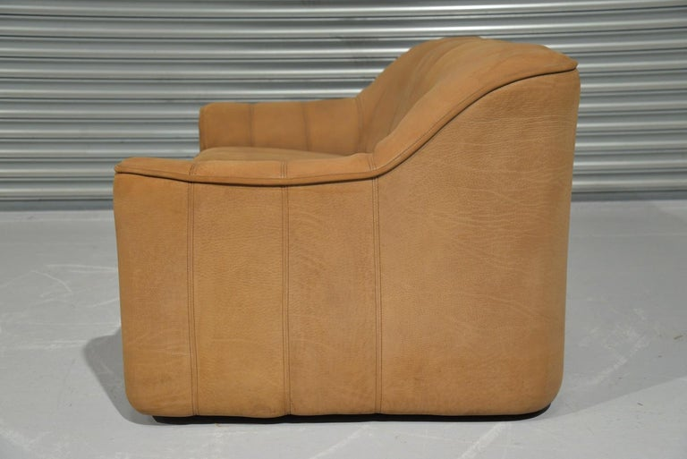 Vintage De Sede DS 44 Leather Two-Seat Sofa or Loveseat Switzerland 1970`s For Sale 6