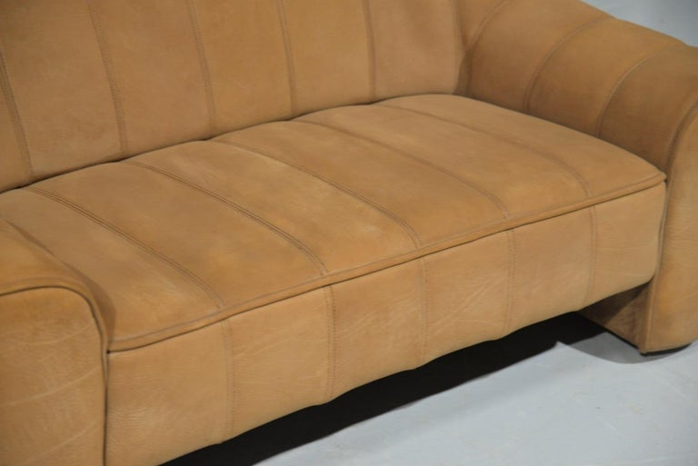 Vintage De Sede DS 44 Leather Two-Seat Sofa or Loveseat Switzerland 1970`s For Sale 8