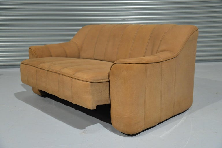 Vintage De Sede DS 44 Leather Two-Seat Sofa or Loveseat Switzerland 1970`s In Good Condition For Sale In Fen Drayton, Cambridgeshire