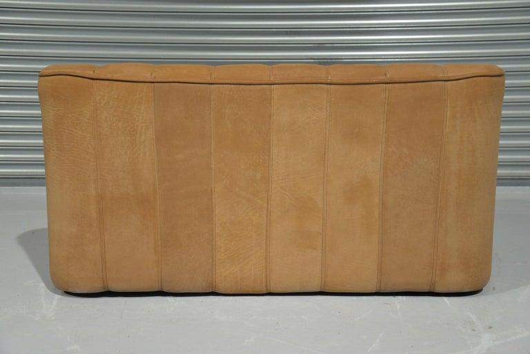 Vintage De Sede DS 44 Two-Seat Neck Leather Sofas / Loveseats, Switzerland 1970s For Sale 8
