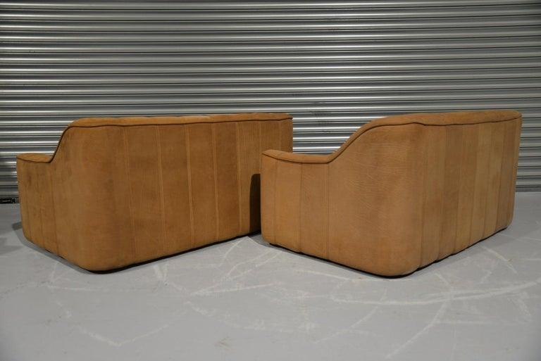 Vintage De Sede DS 44 Two-Seat Neck Leather Sofas / Loveseats, Switzerland 1970s For Sale 1