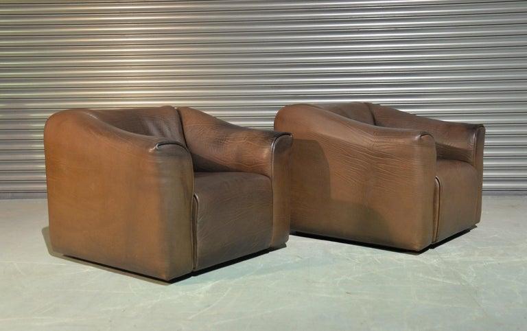 Mid-Century Modern Vintage De Sede DS 47 Armchairs, Switzerland, 1970s For Sale