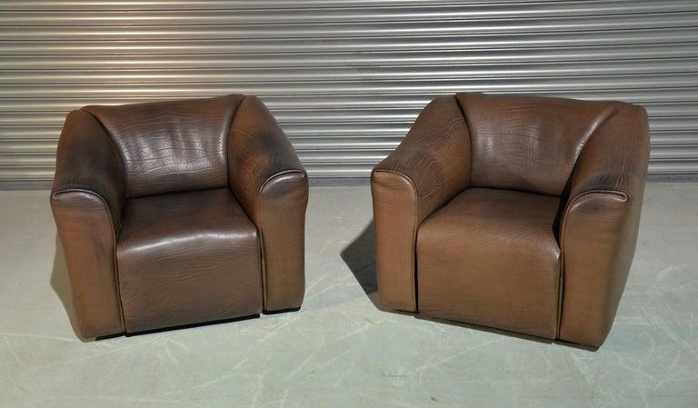 Leather Vintage De Sede DS 47 Armchairs, Switzerland, 1970s For Sale