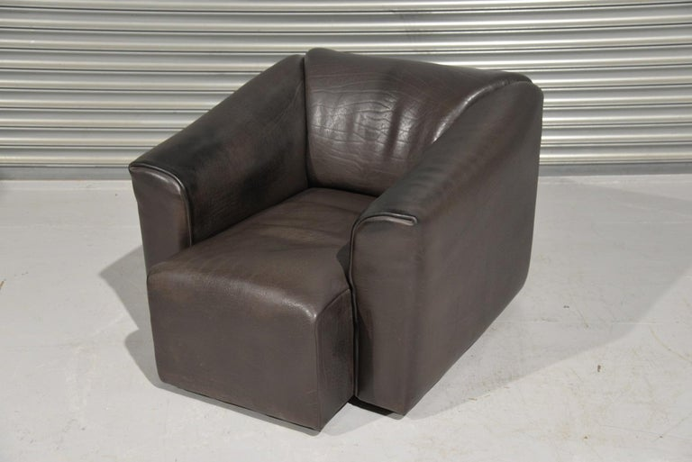 Mid-Century Modern Vintage De Sede DS 47 Leather Armchair, Switzerland, 1970s