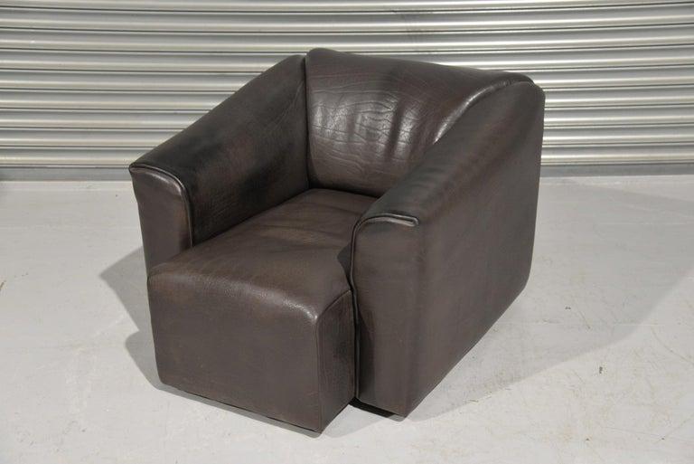 Mid-Century Modern Vintage De Sede DS 47 Leather Armchair, Switzerland, 1970s For Sale