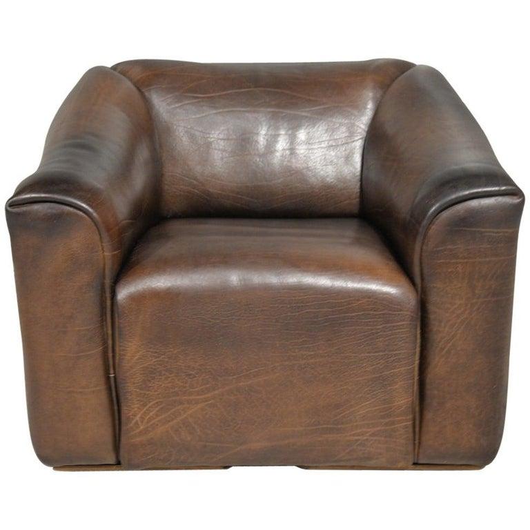 Vintage De Sede DS 47 Leather Armchair, Switzerland, 1970s For Sale