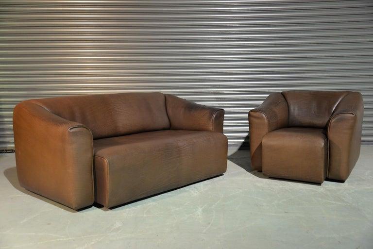 Vintage De Sede DS 47 Leather Sofa, Switzerland, 1970s For Sale 12