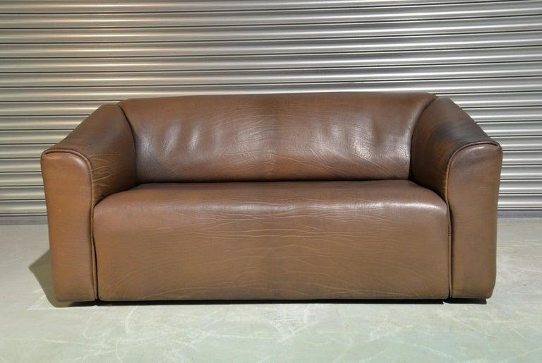 Vintage De Sede DS 47 Leather Sofa, Switzerland, 1970s In Good Condition For Sale In Fen Drayton, Cambridgeshire